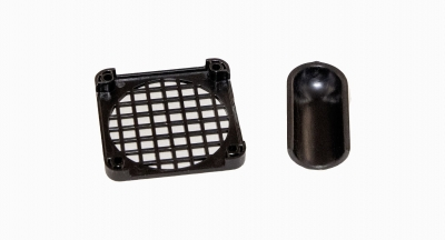Part Name: Speaker Grille & Cover<br>Tool Info: Low Volume Mold<br>Resin: ABS